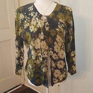 New Garnet Hill floral cardigan
